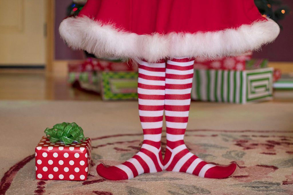 Elf striped socks