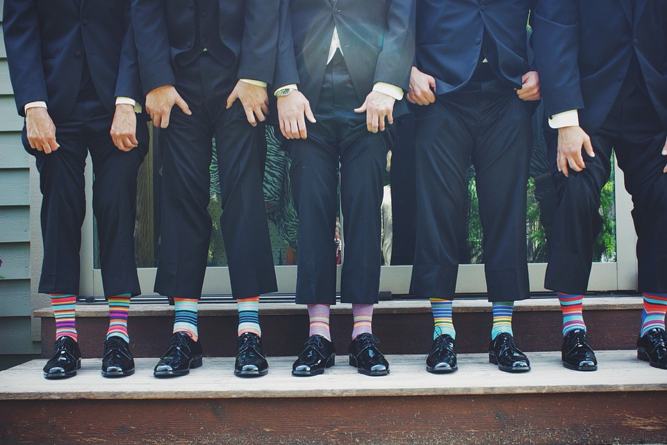 Men in socks
