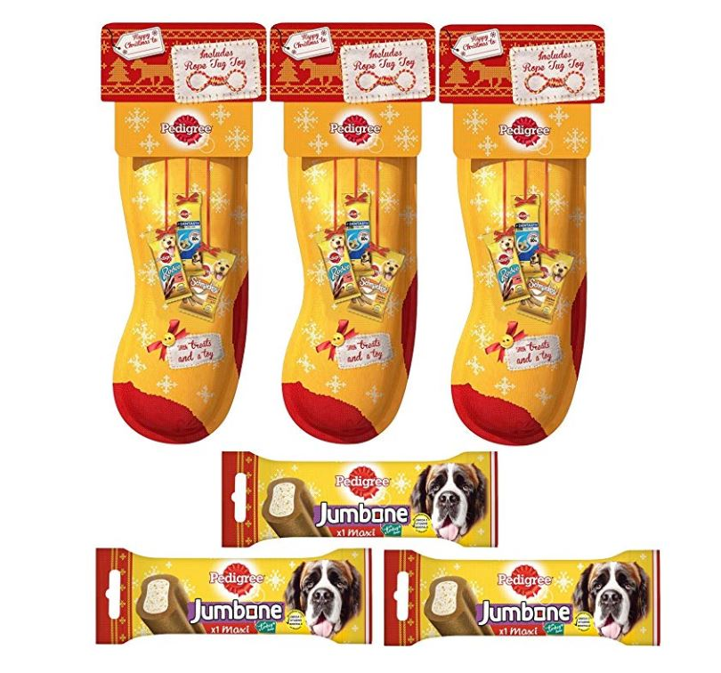3 Christmas dog stockings