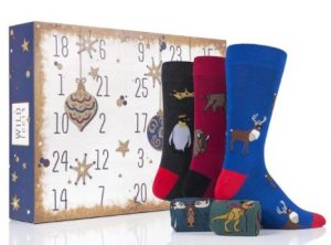 25 Pairs themed Christmas advent socks