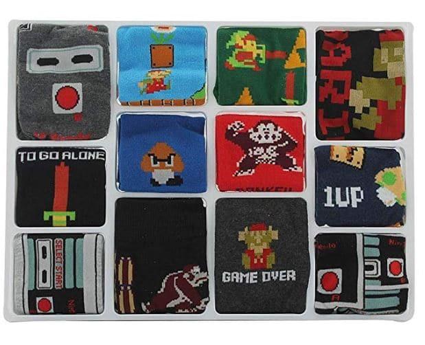 Nintendo Advent Calendar Socks