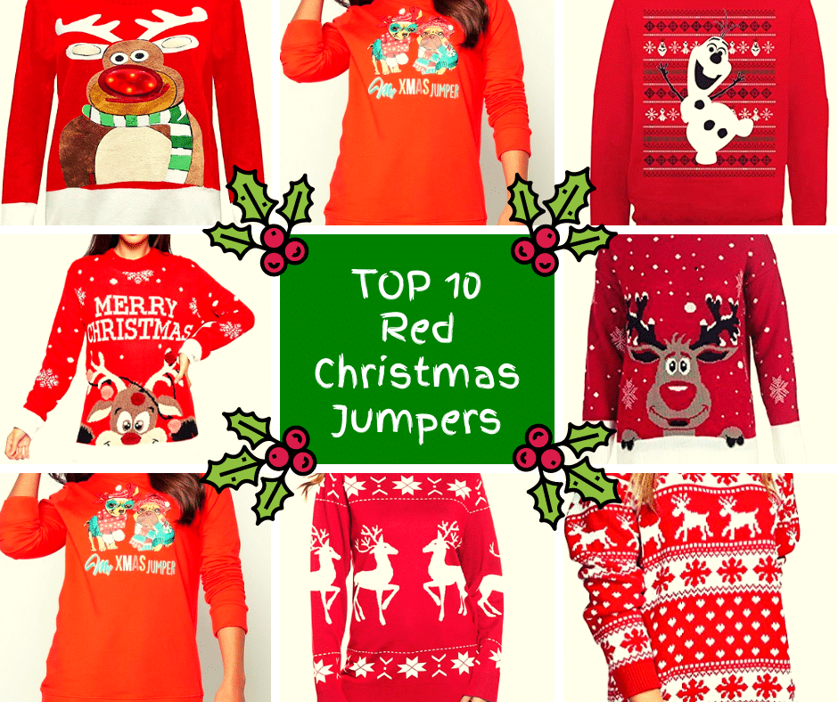 Red Christmas Jumpers