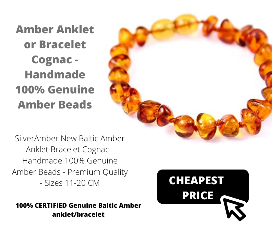 a amber bracelet or ankle bracket stocking filler for ladies