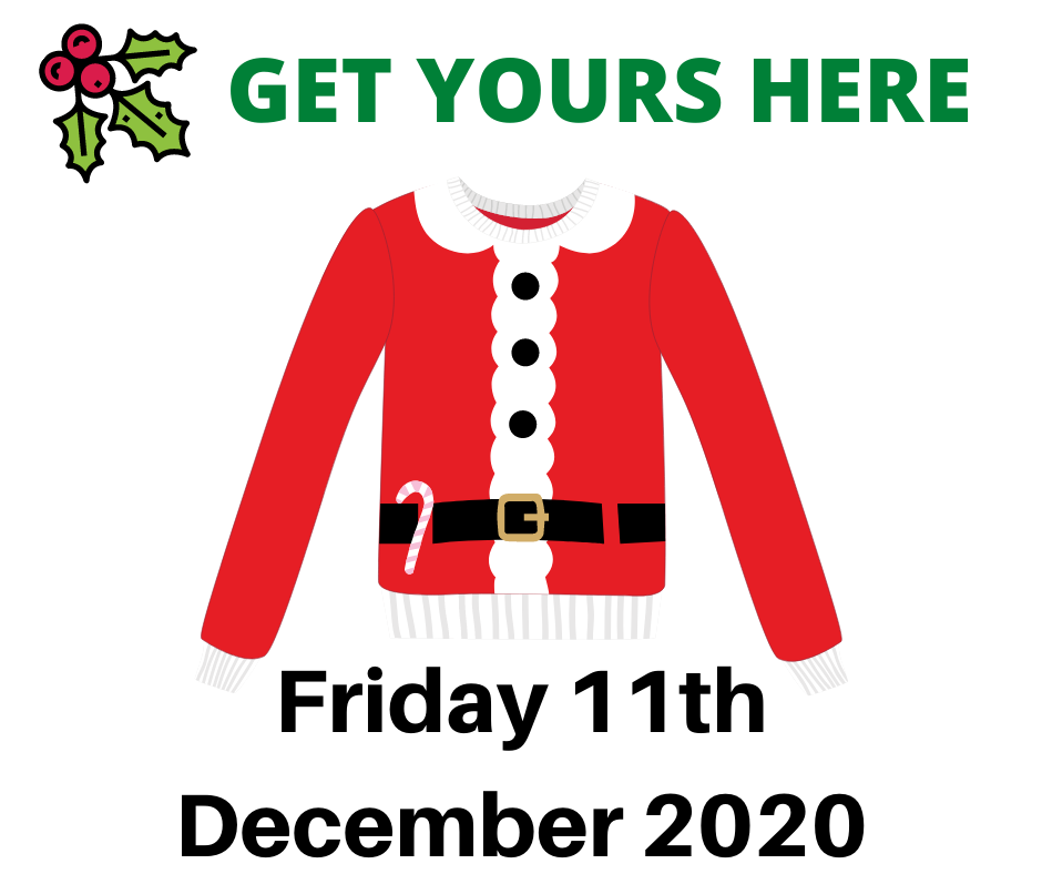 Christmas jumper, text 11th December 2020