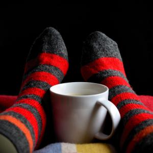 Men's Christmas slipper socks